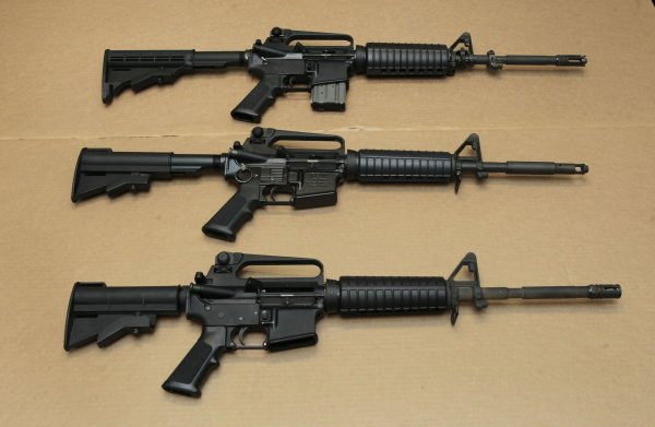 assault rifles