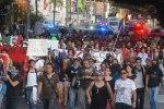 Around 500 demonstrators marched across Guadalajara on Saturday to express their discontent at Enrique Peña Nieto'sinauguration.