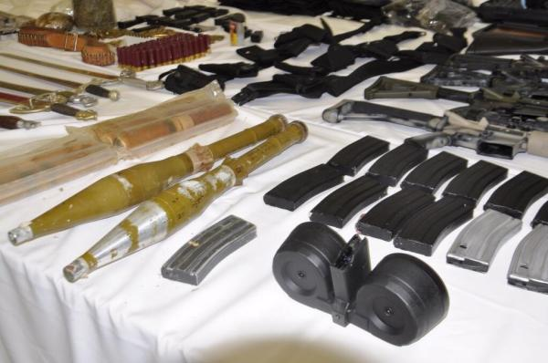 Police found an array of heavy weaponry, including rocket-propelled grenades (RPGs) at the safe house in Guadalajara.