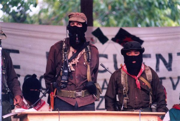 "Subcomandante Marcos said it was a ""difficult decision"" to step down as EZLN spokesman."
