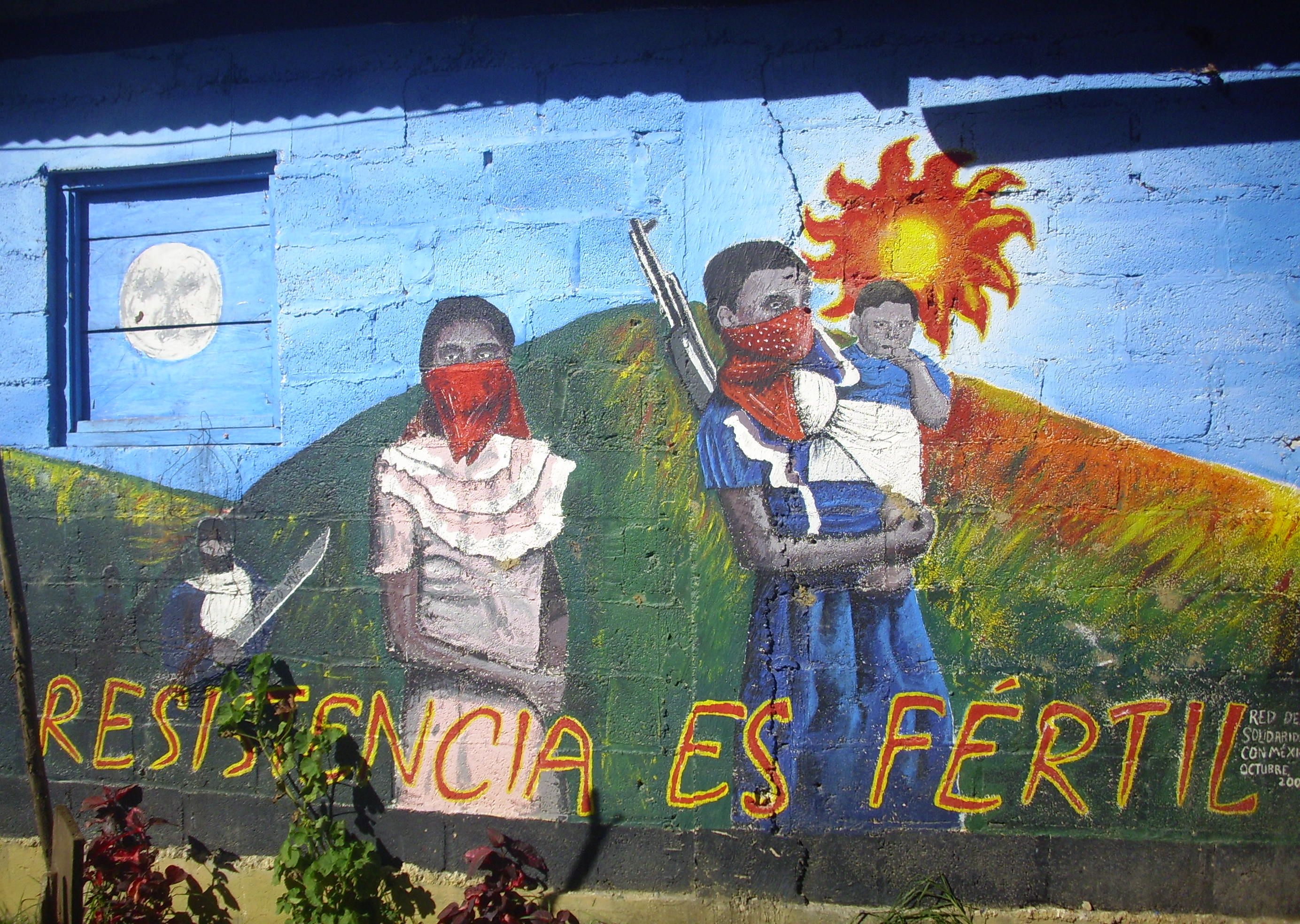 Zapatista teacher murdered by militant agricultural for Mural zapatista