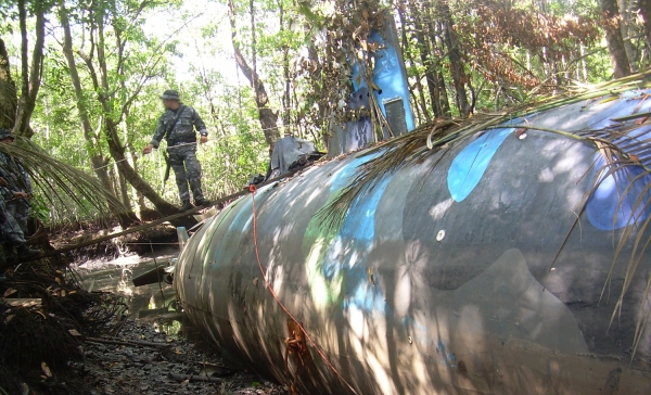 'Narco submarines' are one of many methods of transportation that drug cartels have devised.