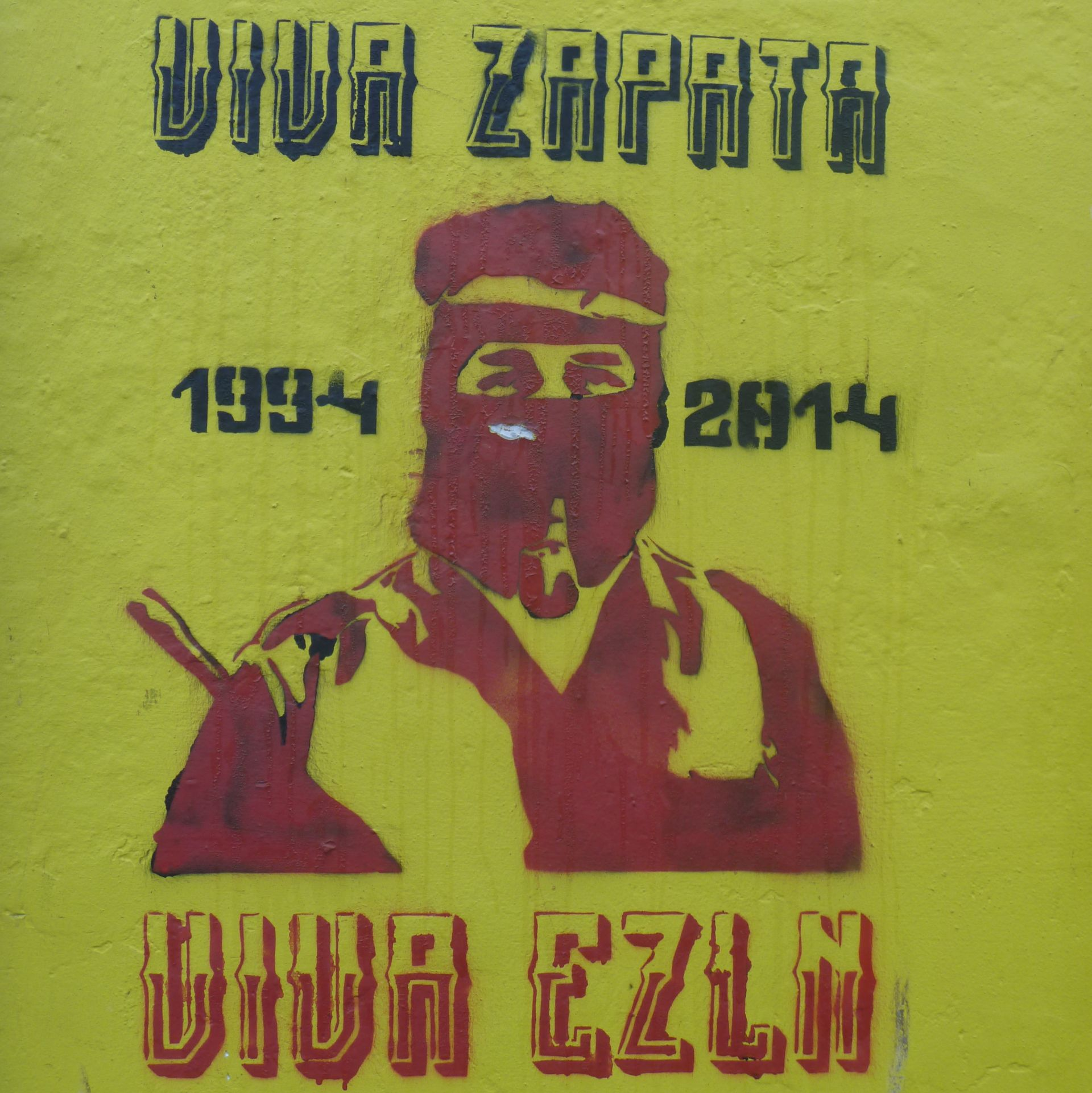 Postcards from home mexico in the uk the tequila files for Mural zapatista