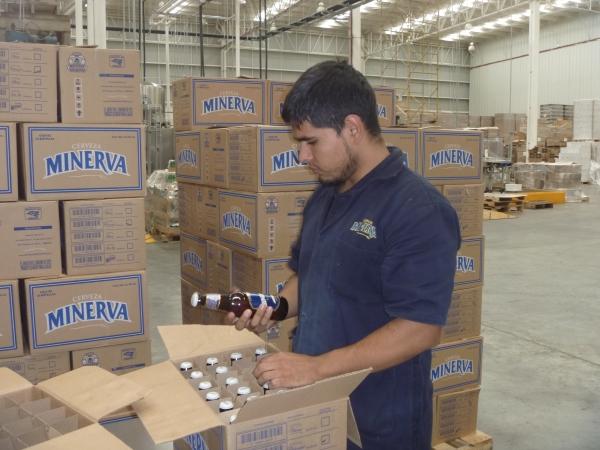 Minerva factory worker