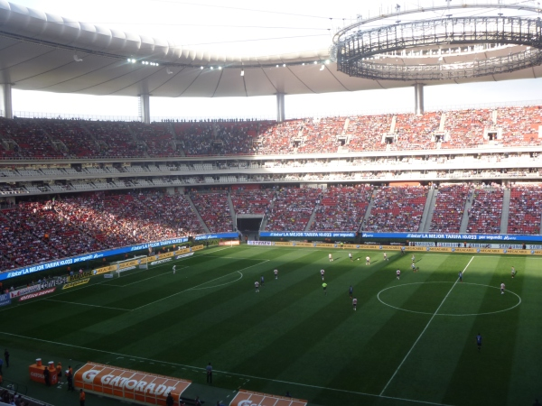 Despite Chivas raising prices, the Estadio Omnilife was also almost full for Ronaldinho's debut.