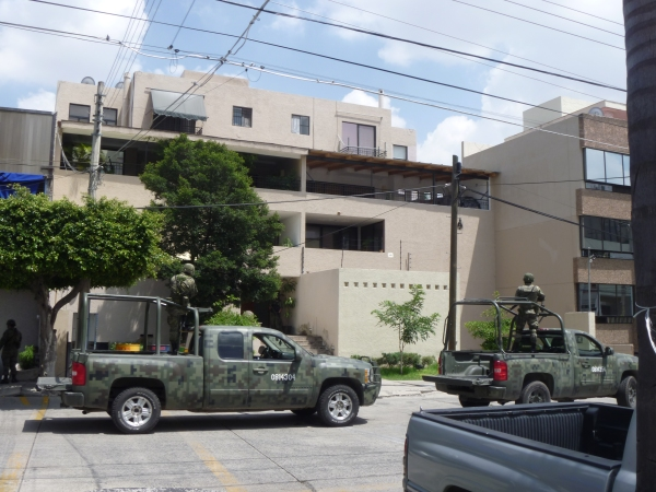 A military raid on a Cartel de Jalisco Nueva Generación safe house in Guadalajara in 2012.