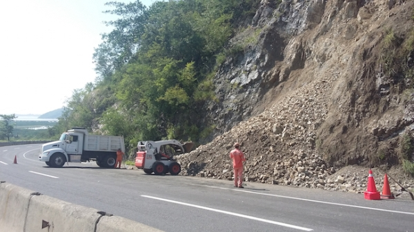 Patricia caused minor landslides on the highway from Guadalajara to Manzanillo.