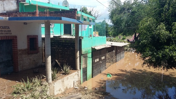 As many as 150 homes were flooded in the town of Cihuatlán, Jalisco.