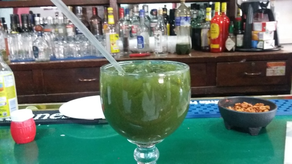 La Iberia's signature drink, La Batanga de Doña Chela is made with tequila, vodka, aguardiente, coke, lime, salt, mint and ice.