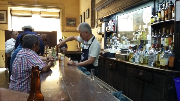 Jesús Conrique has been serving drinks in La Fuente for 34 years.