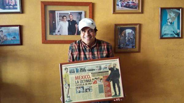 Guardiola used to eat at José Luis Bracamontes' restaurant  La Cocinita del Medio after training everyday.