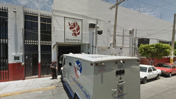 Seguritec's Guadalajara headquarters. Seguritec is one of 1,168 private security firms with federal permission to operate in Mexico [Google Street View]