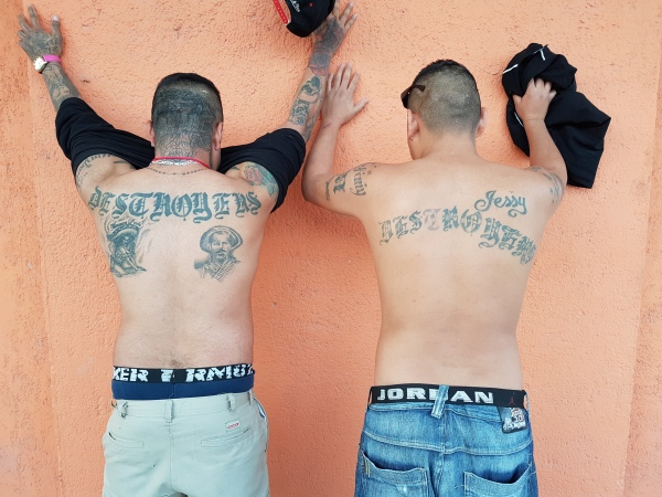Two rehabilitated former members of Monterrey's Destroyers gang.